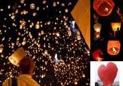 Китайские летающие небесные фонарики 4, 5 грн,  небесні ліхтарики,  китай