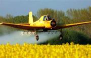 Авиахимобработка полей вертолет-самолет