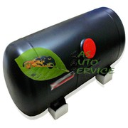 Большой баллон цылиндрический установить для газа поставить для авто