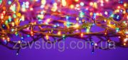 Гирлянда на елку 200ламп разноцветная