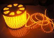 Дюралайт светодиодный led-2wrl желтый,  100 метров