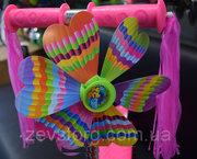 Самокат Scooter с цветком и мишурой - для девочки от 2х лет